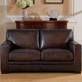 World Menagerie Mcdonald Leather Loveseat