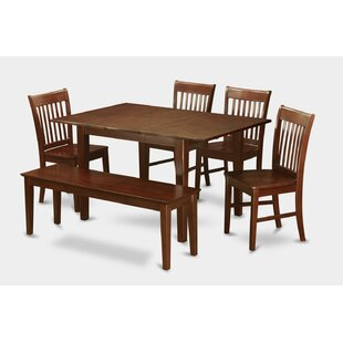 Alcott Hill Lorelai 6 Piece Extendable Dining Set