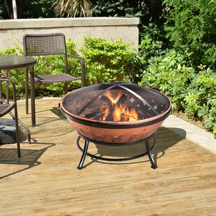 Peaktop Outdoor Steel Wood Burning Fire Pit