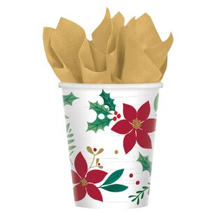 Christmas Wishes Paper Disposable Every Day Cup (Set of 8)