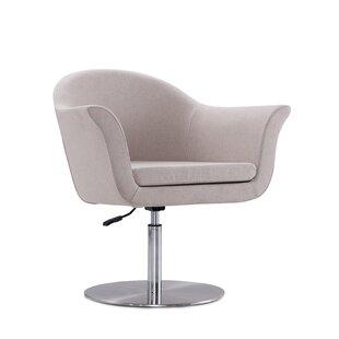 Orren Ellis Luttrell Adjustable Swivel Armchair