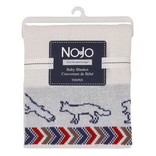 Tee Pee Jacquard Knit Blanket By NoJo