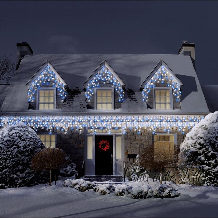 700 Warm White Cool White Outdoor Icicle Led Christmas Fairy Light