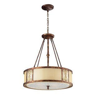 Fleur De Lis Living Wiggins 4-Light Drum Pendant