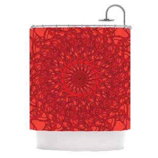Mandala Spin Romance by Patternmuse Geometric Shower Curtain ByEast Urban Home