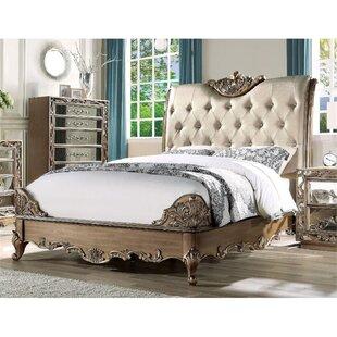 Hallatrow King Tufted Low Profile Storage Sleigh Bed