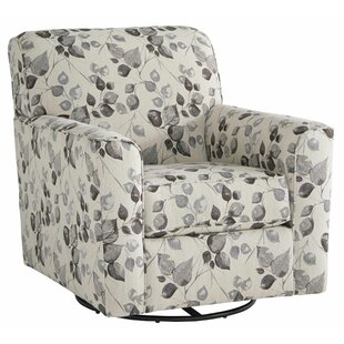 Eurytus Fabric Upholstered Swivel Armchair by Red Barrel Studio