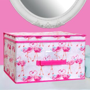 Pretty Flamingo Fabric Cube or Bin by Laura Ashley