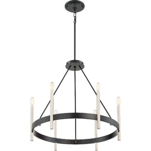 Winston Porter Doucette 6-Light Wagon Wheel Chandelier