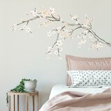 Cherry Blossom Branch Peel and Stick Giant Wall Decal by Zoomie Kids