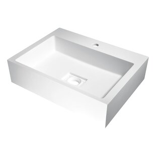 Alcea Plastic Rectangular Vessel Bathroom Sink ANZZI