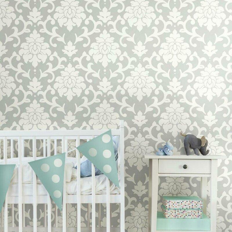 House Of Hampton Milford 16 5 L X 20 5 W Damask Peel And Stick Wallpaper Roll Reviews Wayfair
