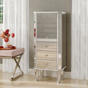 House of Hampton Ashmore Mirrored Jewelry Armoire