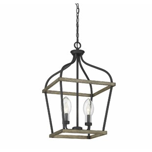 Gracie Oaks Wilbur 2-Light Lantern Chandelier