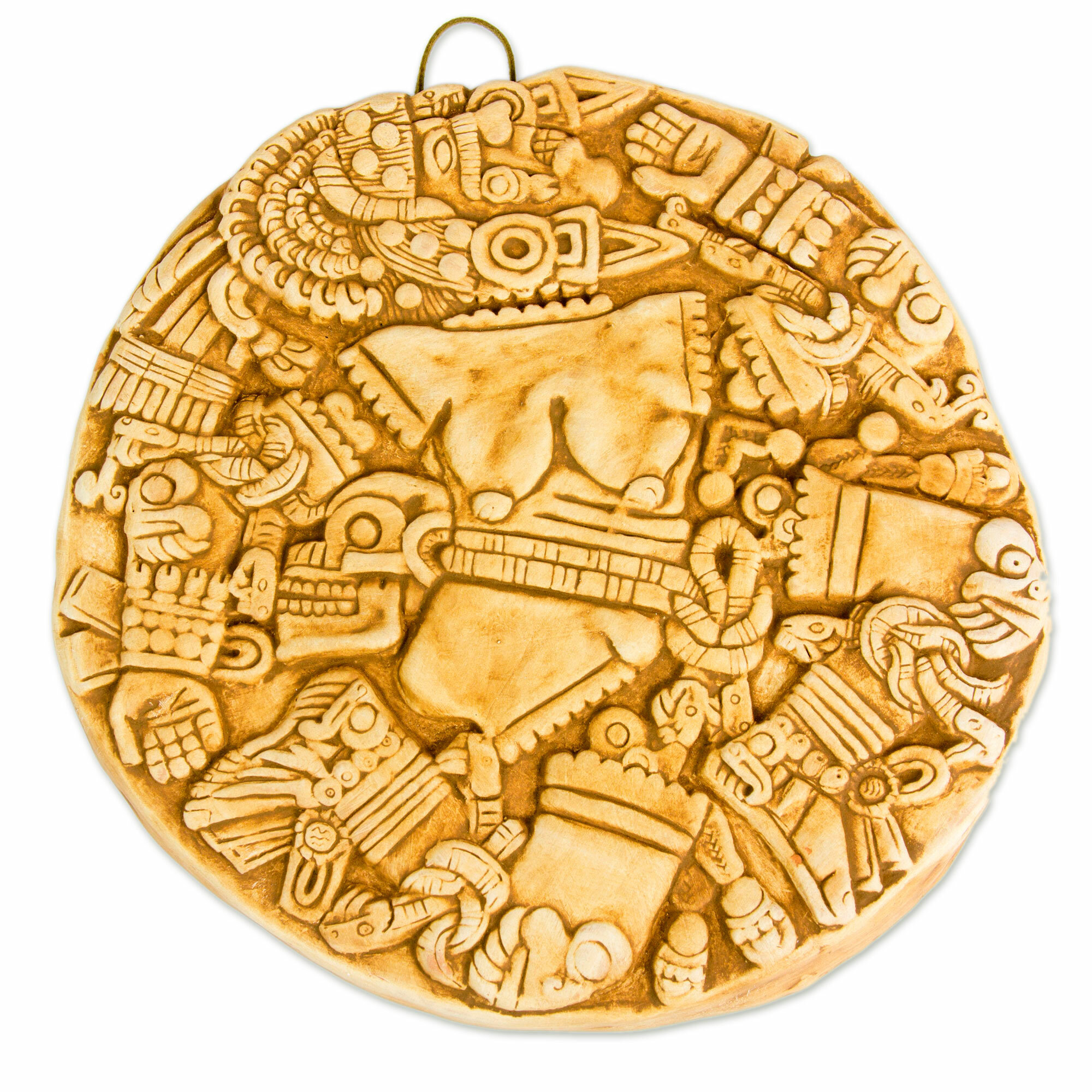 Novica Aztec Moon Goddess Collectible Hand Crafted Archaeological ...