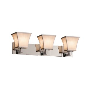 Red Hook 3 Light Square Flared Vanity Light by Latitude Run