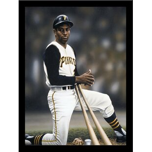 'Roberto Clemente on Deck' Print Poster by Darryl Vlasak Framed Memorabilia By Buy Art For Less