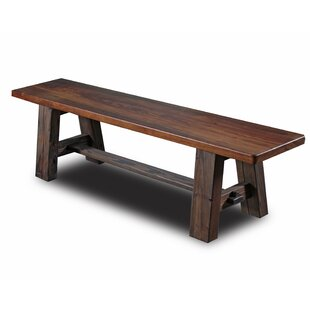 Tusk Tenon Wood Bench by Vintage Flooring..