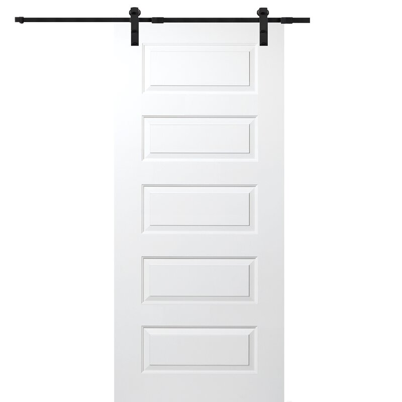 Verona home design rockport mdf 5 panel interior barn door reviews rockport mdf 5 panel interior barn door planetlyrics Image collections