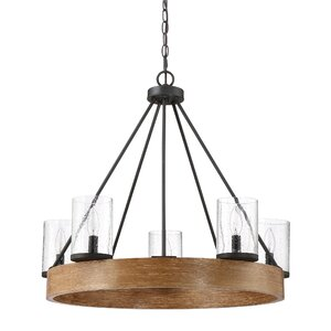 Sushma Gray Ash 5-Light Candle-Style Chandelier