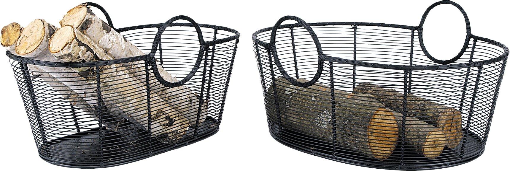 derby wrought iron basket u0026 reviews birch lane