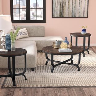 Gracie Oaks Babcock 3 Piece Coffee Table Set