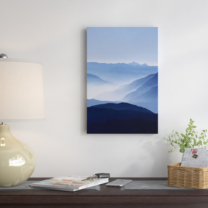 East Urban Home 'Blue Mountains' Graphic Art Print on Canvas