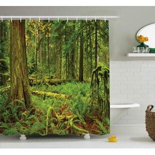 Kaitlin Idyllic Lush Rainforest Single Shower Curtain