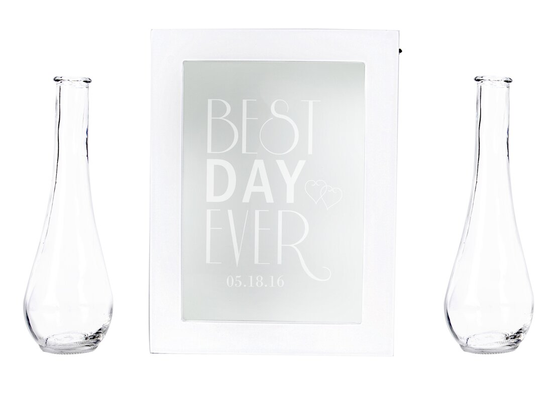 Cathys concepts best day ever personalized unity sand ceremony 3 best day ever personalized unity sand ceremony 3 piece shadow box set reviewsmspy