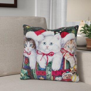 Berkey Meowy Christmas Throw Pillow
