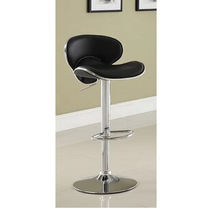 Aubriella Swivel Adjustable Height Bar Stool by Orren Ellis