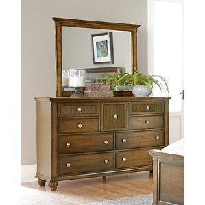 Langham 9 Drawer Dresser with Mirror by Bay Isle Home
