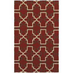 Atrium Lattice Quatrefoil Red Indoor/Outdoor Area Rug
