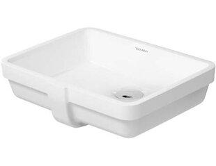 Find Vero Ceramic Rectangular Undermount Bathroom Sink with Overflow By Duravit