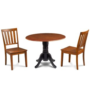 Kaiser 3 Piece Drop Leaf Solid Wood Dining Set
