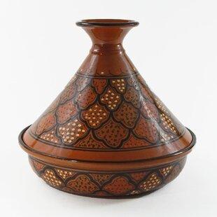Honey 2.5 Qt. Cookable Ceramic Round Tagine By Le Souk Ceramique