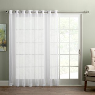 Wayfair Basics Sliding Door Patio Solid Semi-Sheer Grommet Single Curtain Panel by Wayfair Basics™