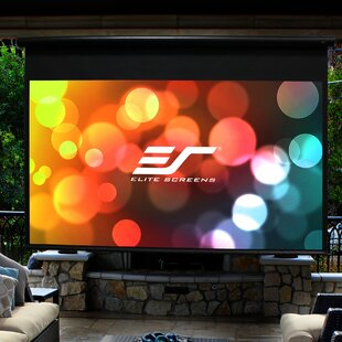 Yard Master Series Outdoor White Electric Projection Screen