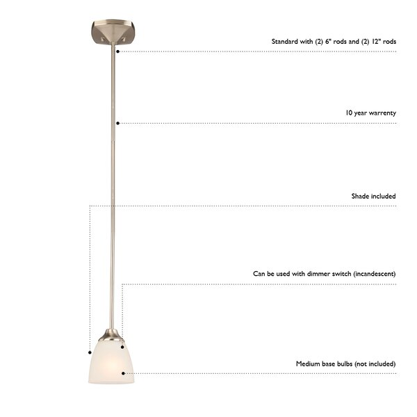 Orren Ellis Perth 1 Light Single Bell Pendant Wayfair