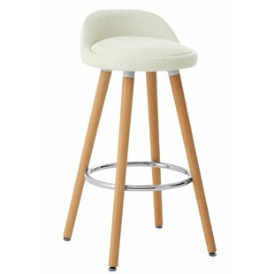 Bunker Lake Leather Effect Bar Stool (Set Of 2) By 17 Stories