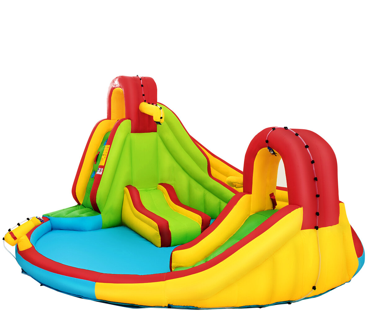 Costway 13 8 X 15 7 Bounce House With Water Slide Reviews Wayfair