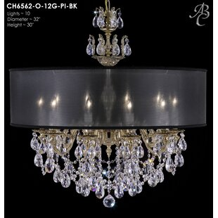 American Brass & Crystal Llydia 10-Light ..