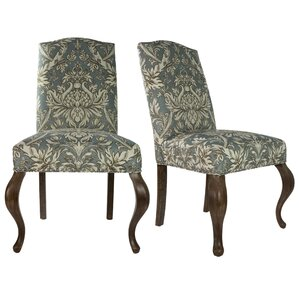 Queen Ann Spring Upholstered Side Chair (Set of 2) by Sole Designs
