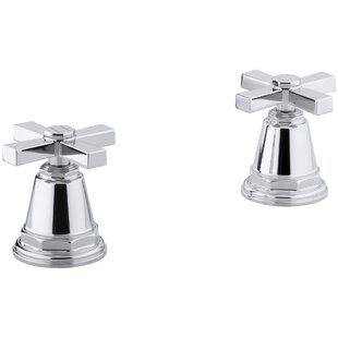 Kohler Pinstripe Pure Deck-Mount High-Flow Bath Valve Trim with Cross Handles, Handles Only, Valve Not Included