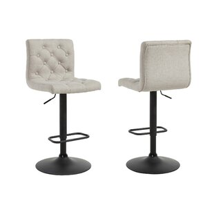 Witney Adjustable Height Swivel Bar Stool (Set of 2) Ebern Designs