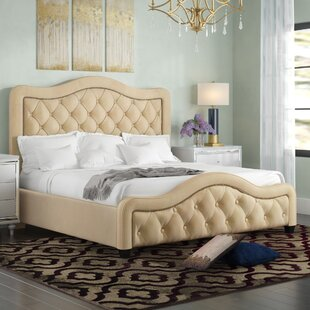 Lindsey California King Upholstered Panel Bed