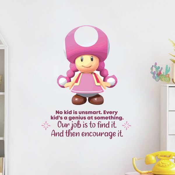 Design With Vinyl Find It Toadette Mario Life Cartoon Quotes Wall Decal Wayfair