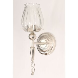 Great Price Bischof Tulip Candle Wall Light By Alcott Hill