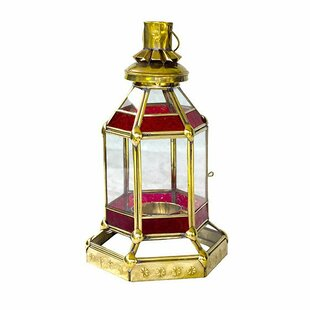 Morocco Flames Glass Lantern by Brilliant Imports