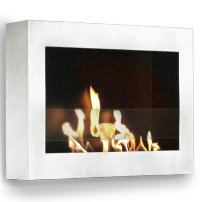 Soho Wall Mounted Bio-Ethanol Fireplace Anywhere Fireplace Finish: White